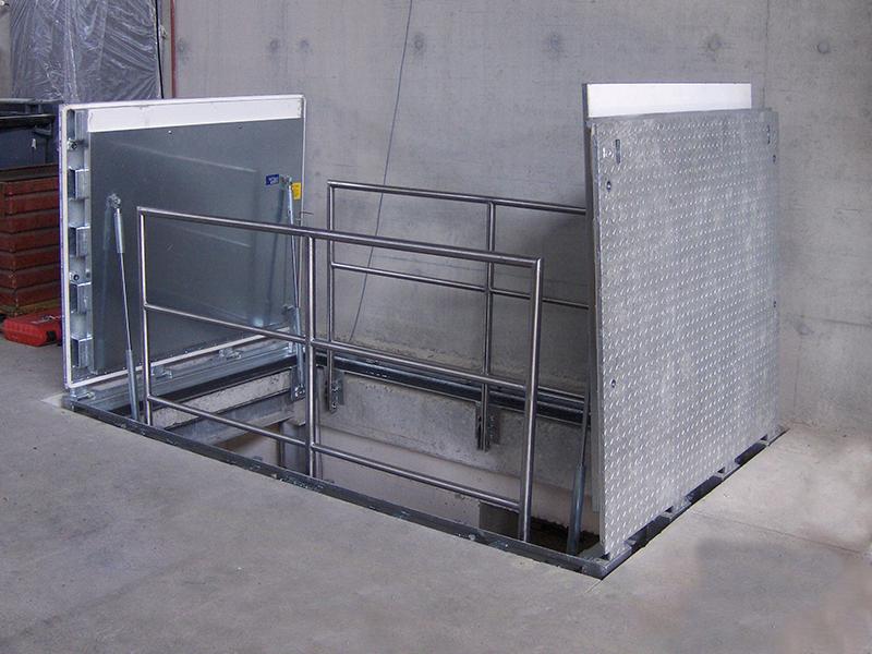 Trappes de sol hydraulique B125