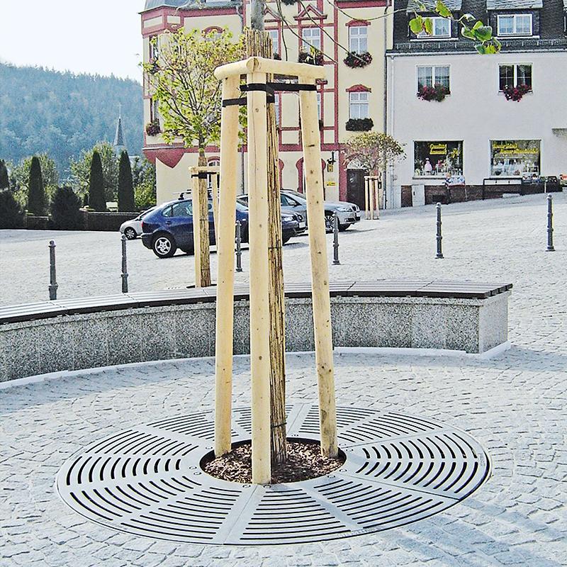Grille d'arbre en design radial