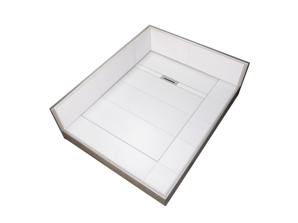 DBR Edelstahl-Duschboard mit Gefällerinne
